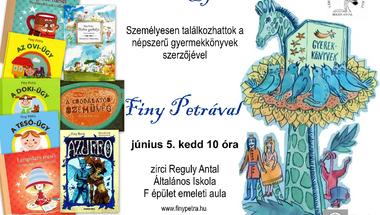 Író - olvasó találkozó  Finy Petrával  2012. június 5. kedd 10 óra