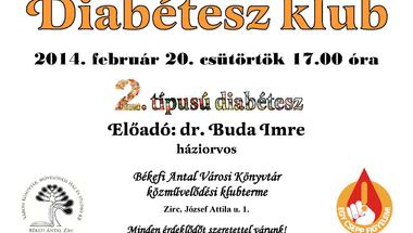 Diabétesz klub februárban