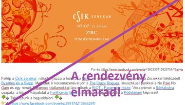 Csík zenekar - 2017.07.07-én, a Zirci Buliban - Rendezvény törölve!