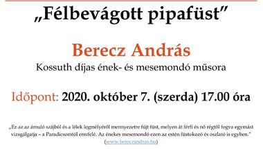 Berecz András - mesemondó műsora - 2020. október 7., szerda
