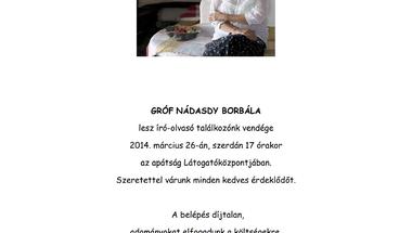 Író-olvasó találkozó - gróf Nádasdy Borbála
