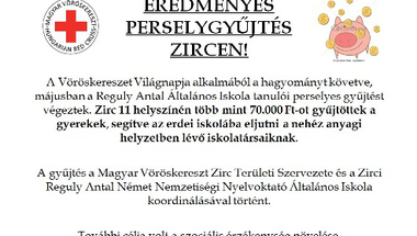 EREDMÉNYES PERSELYGYŰJTÉS ZIRCEN!