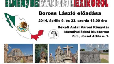 Élménybeszámoló Mexikóról a Békefi Antal Városi Könyvtárban