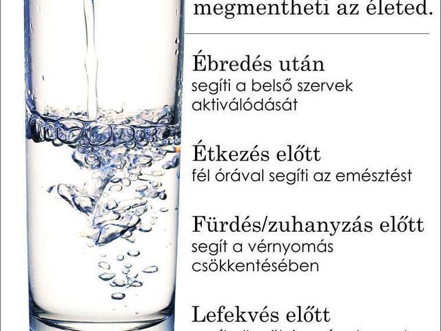Ma mennyi vizet ittál?