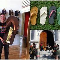 Környezetbarát és újrahasznosított flip-flop papucsok