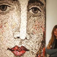 Papír-kollázs portré - újrahasznosítva