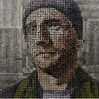Csavarból készült 3D portrék