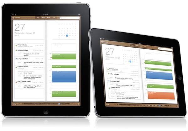 iPad calendar