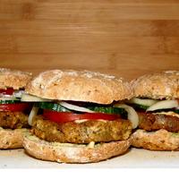 Édesburgonyás vegán hamburger buci