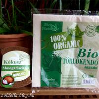 Bio törlőkendő és mosogatószivacs