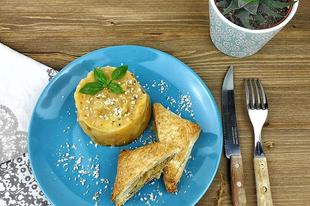 Sütőtökös krumplipüre zöldségkrémes batyuval