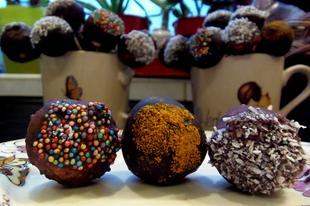 Nyers vegán cake pop - prototípus