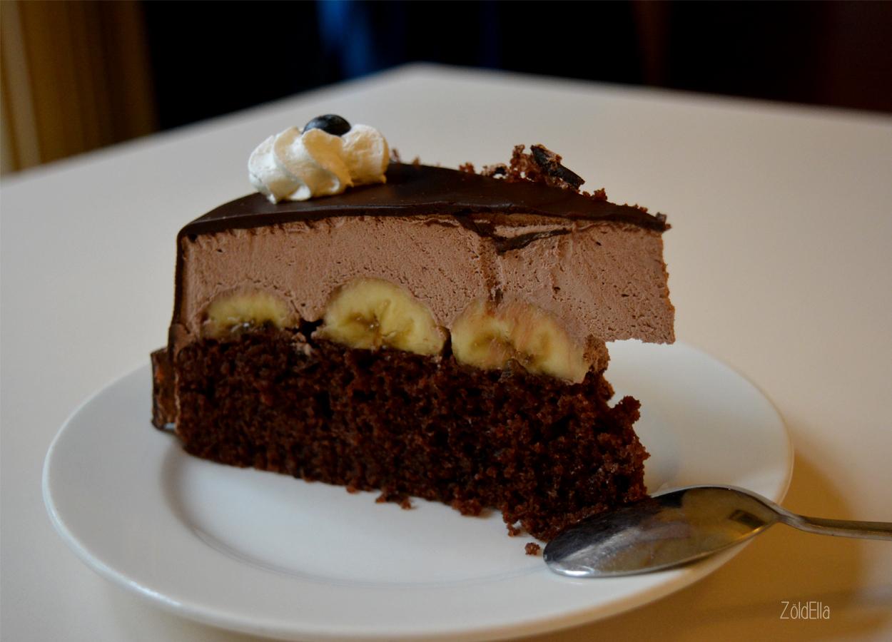 Banános csokis torta