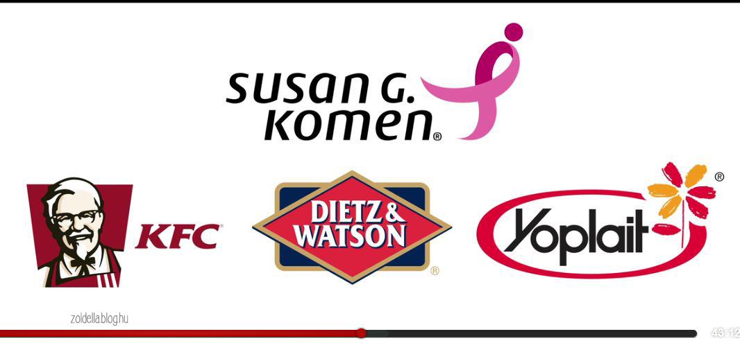 A Susan G. Kommen mellrák ellen küzdő központ húsipari szponzorai
