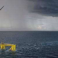 Óriási úszó szélerőmű a walesi partoknál
