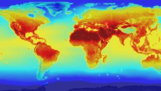 Animált hőmérsékleti spirál a klímaváltozásról