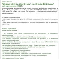 Zöld Óvoda pályázat - módosult a kiírás, közeleg a határidő!