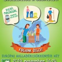 Európai hulladékcsökkentési hét 2019.11.16. és 11.24. között