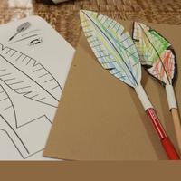 Alkossunk papírból - indián toll, szélforgó, könyvjelző hercegnő