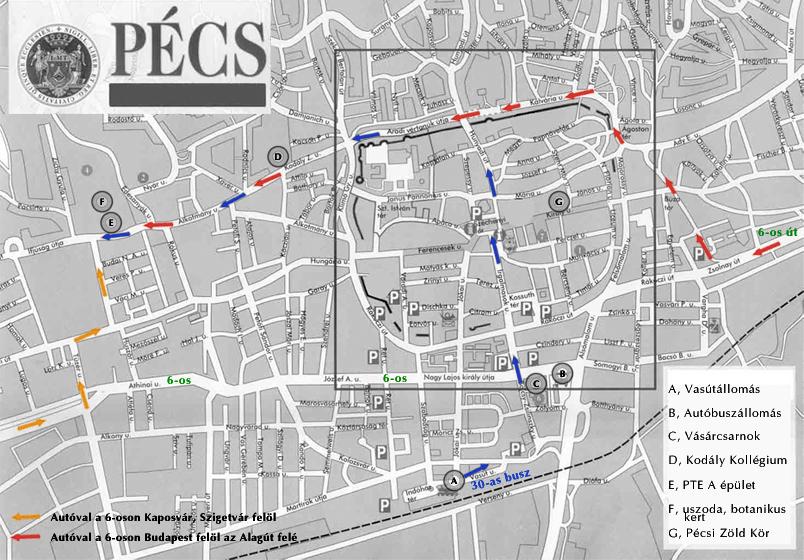 pécs vasútállomás térkép Térkép, elérhetőség   Zöldek Országos Találkozója 2008 pécs vasútállomás térkép