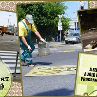 Kerékpárutak felület javítása Zebra felfestés a gyalogosokért Útburkolatfestés a kerékpárosokért