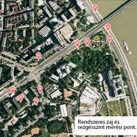 Zöld Pardon zajszint mérési helyszínek a XI. kerületben