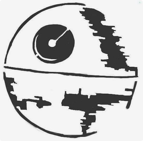 Star wars nyomtatható elloween töklámpás sablon