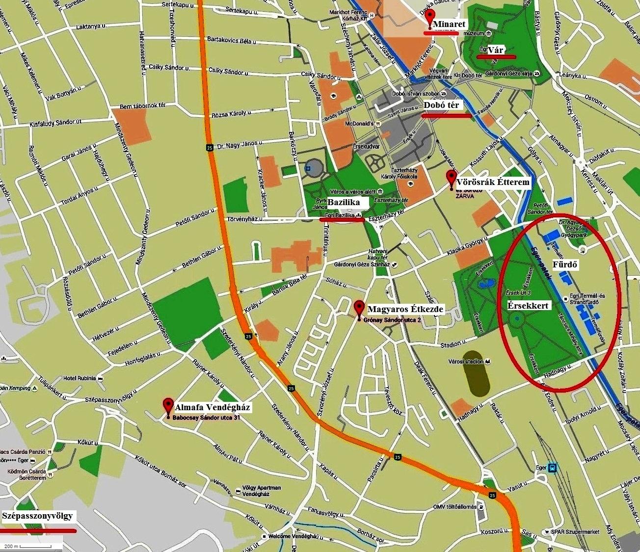eger szépasszonyvölgy térkép Eger 1.   Zsákfalu eger szépasszonyvölgy térkép