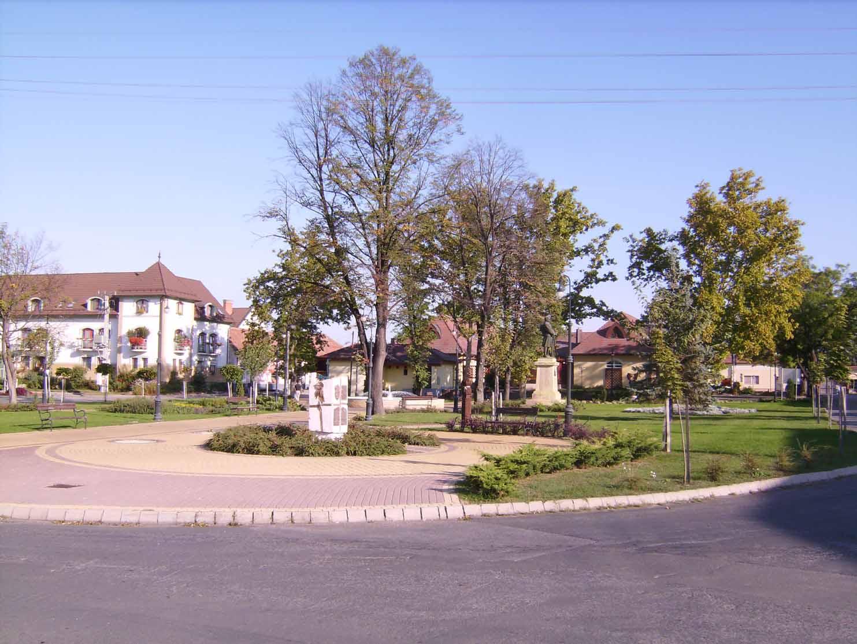 A városka parkjában van '56-os, I. - és II. Világhaborús emlékmű.