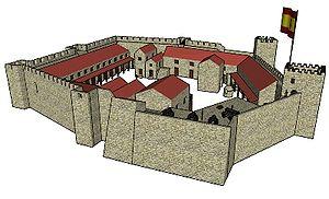 A következő századok zűrzavaros háborúit – angolok, franciák, spanyolok harcoltak itt – jócskán megsínylette az eredetileg nyolcszögletű alaprajzú vár,