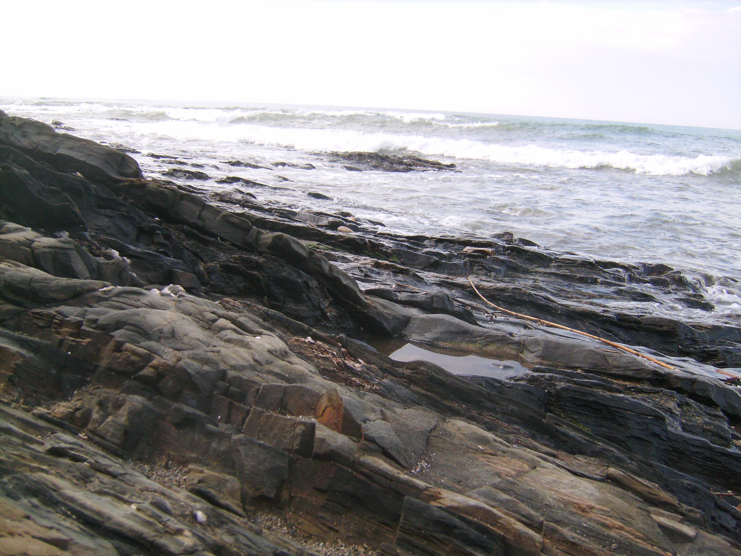Egy pillanatnyi tenger, rózsaszín kőfodraival,<br />a zsongó Hallgatás, a végtelenség néma ajka,<br />mielőtt visszaolvad elemébe. <br />