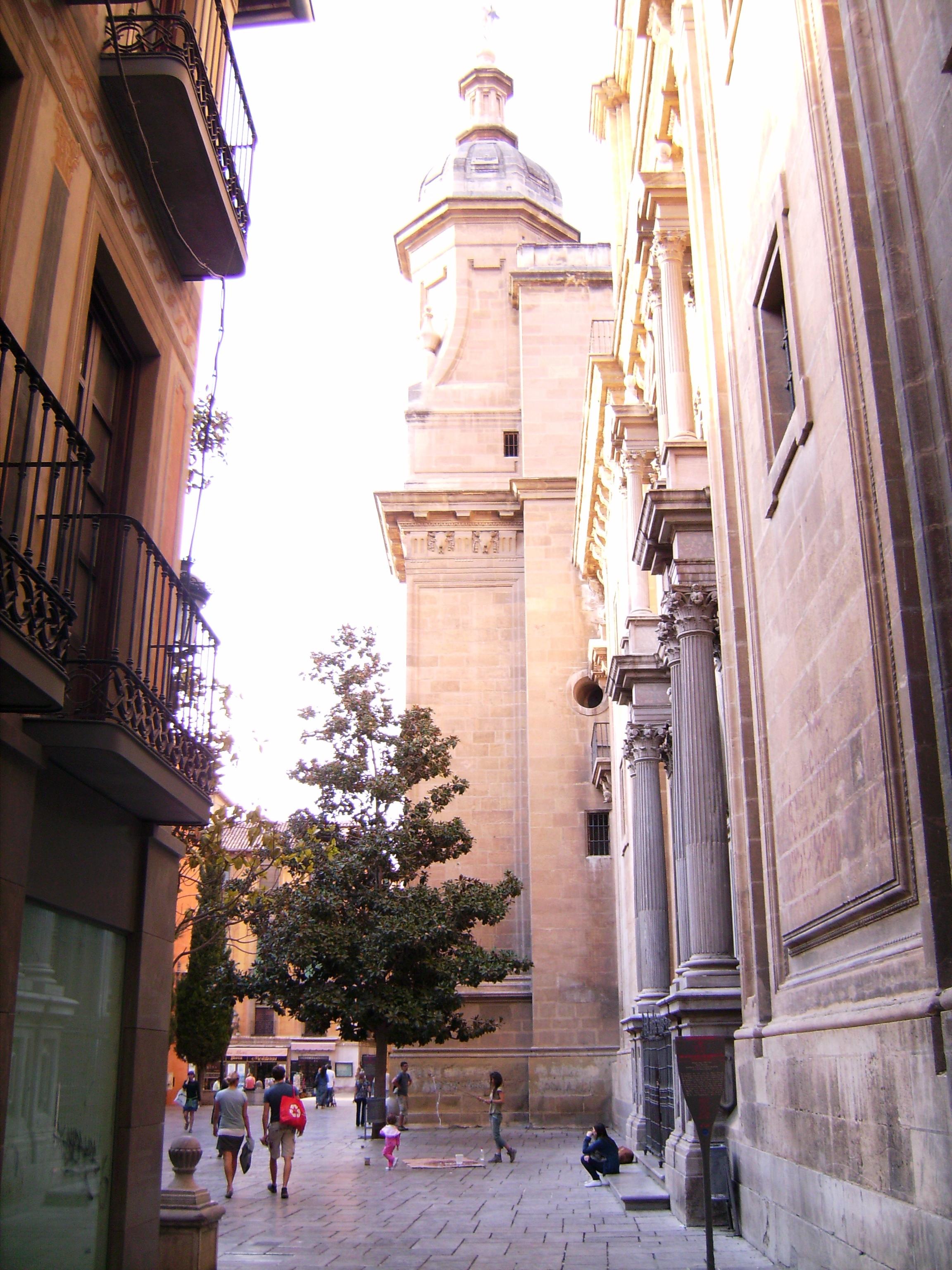 A katedrális építését a katolikus királyok* rendelték el 1503-ban, röviddel a város bevétele után. <br />*  https://elismondom.wordpress.com/2010/07/28/andaluz-nyar-04-granada-belvarosa-es-a-katolikus-kiralyok/<br />