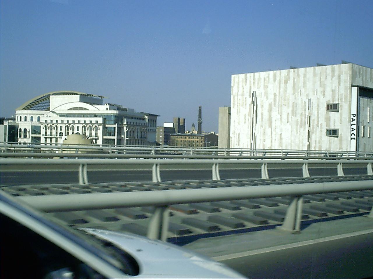 Budapest,a MÜPA a Lágymányosi hídról.