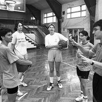 Rátgéber első edzése Pécsen 1993-ban