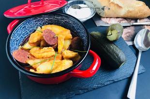 Paprikás krumpli galuskával