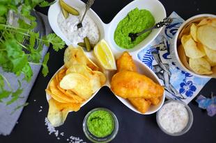 Fish and Chips remulád mártással