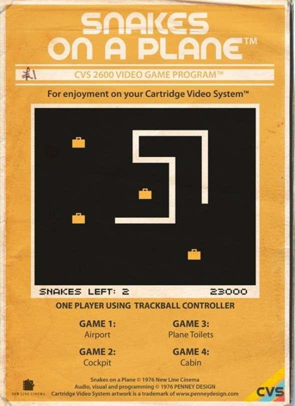 Atari 2600 Snakes On A Plane