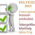 FELVÉTELI 2015